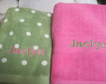 Personalization on Your Bath Towels