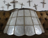 Unique Vintage Shell and Brass Lamp Shade with Scalloped Edge Reserved