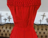 Retro Red Dress Reserved