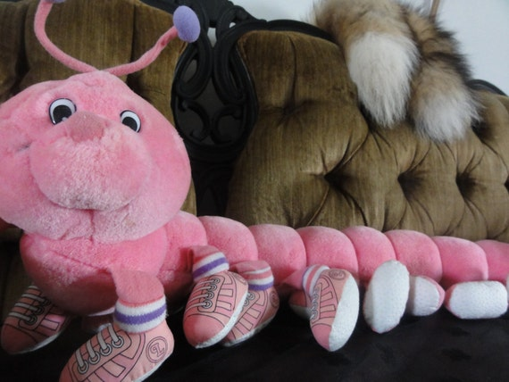 Lots-a-Lots-a-LEGGGGGGGGGGs TALKING  Pink Plush Caterpiller Stuffed Animal