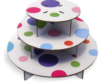 Polka Dot Cupcake Stand