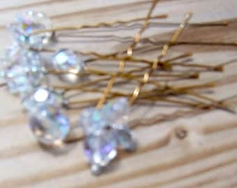 Handmade Something Blue Hairpins Set of 8 for Wedding Hair Accessories