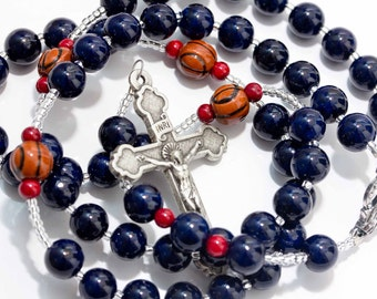 Personalized Sports Rosary - Basketball