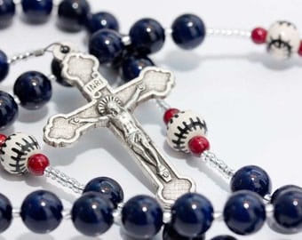 Personalized Sports Rosary - Baseball or Softball