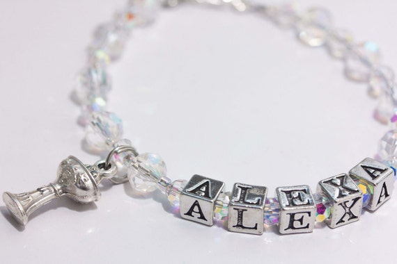 Matching Rosary & Bracelet set in your choice of birthstone and personalized