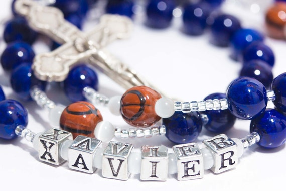 Personalized Basketball First Communion Rosary