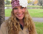 Damask (Brown and Pink) Ear Warmer