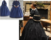 Civil War gown reenactment early Victorian gown costume