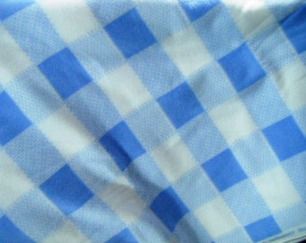 Plaid Lounge pants pajama dorm lounge fleece made to order your choice size XS - 2X blue and white