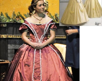 Civil War gown early Victorian reenactment gown costume