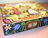 Vintage Swiss Folk Art Box Cyber Monday Etsy