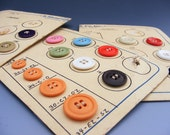 Vintage Salesman Sample Button Cards Lot of 5 with 37 Buttons