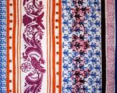 Kiki Stripe Purple Cotton Jersy Knit Sold by the Half Yard