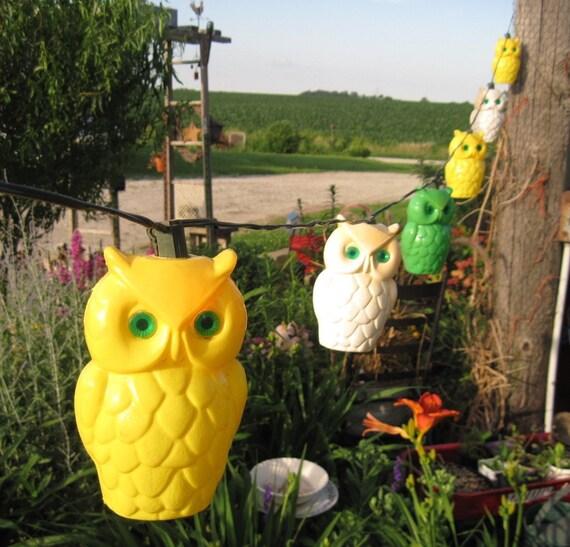Superior ... Owl Patio Lights Vintage Wise Owl Parti Lites Set Of 7 Lights For ...
