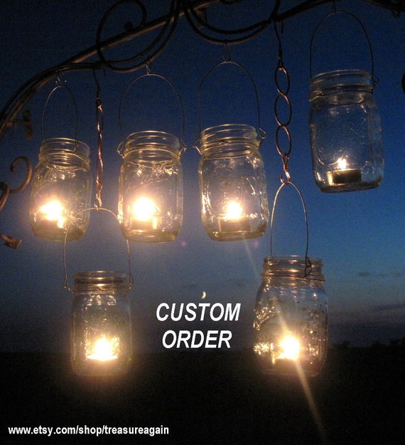 CUSTOM DIY Jar Lanterns, Hanging Wire Sets by TreasureAgain, Hangers Only-No Jars