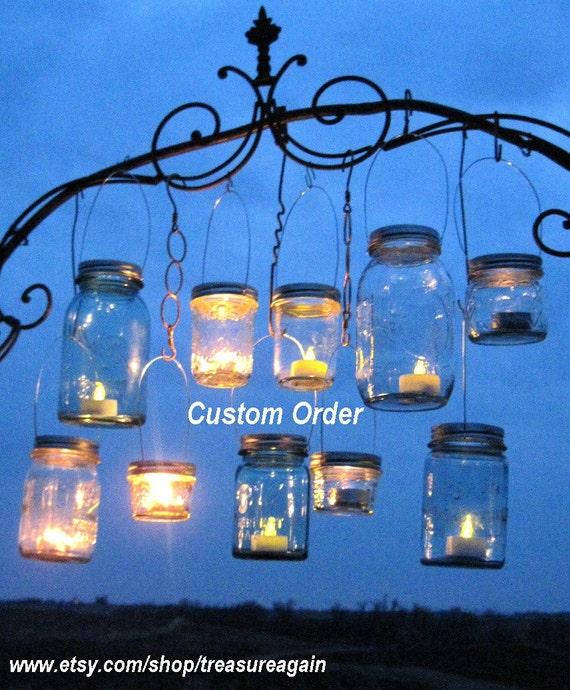 DIY Hanging Mason Jar Lids Regular and Wide Mouth Sizes Custom Order