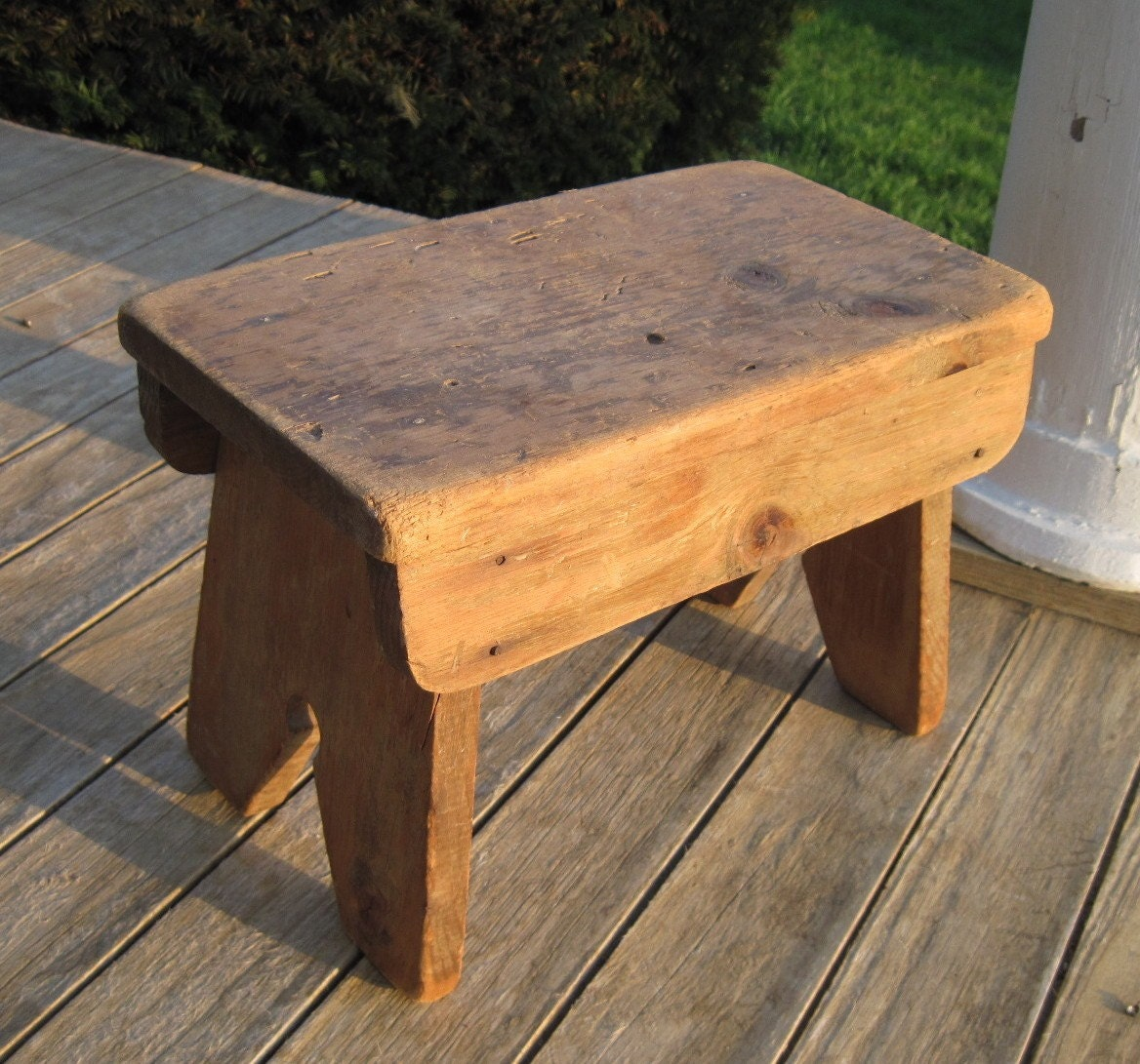 Vintage Bench Wooden Primitive Bench For A Foot By