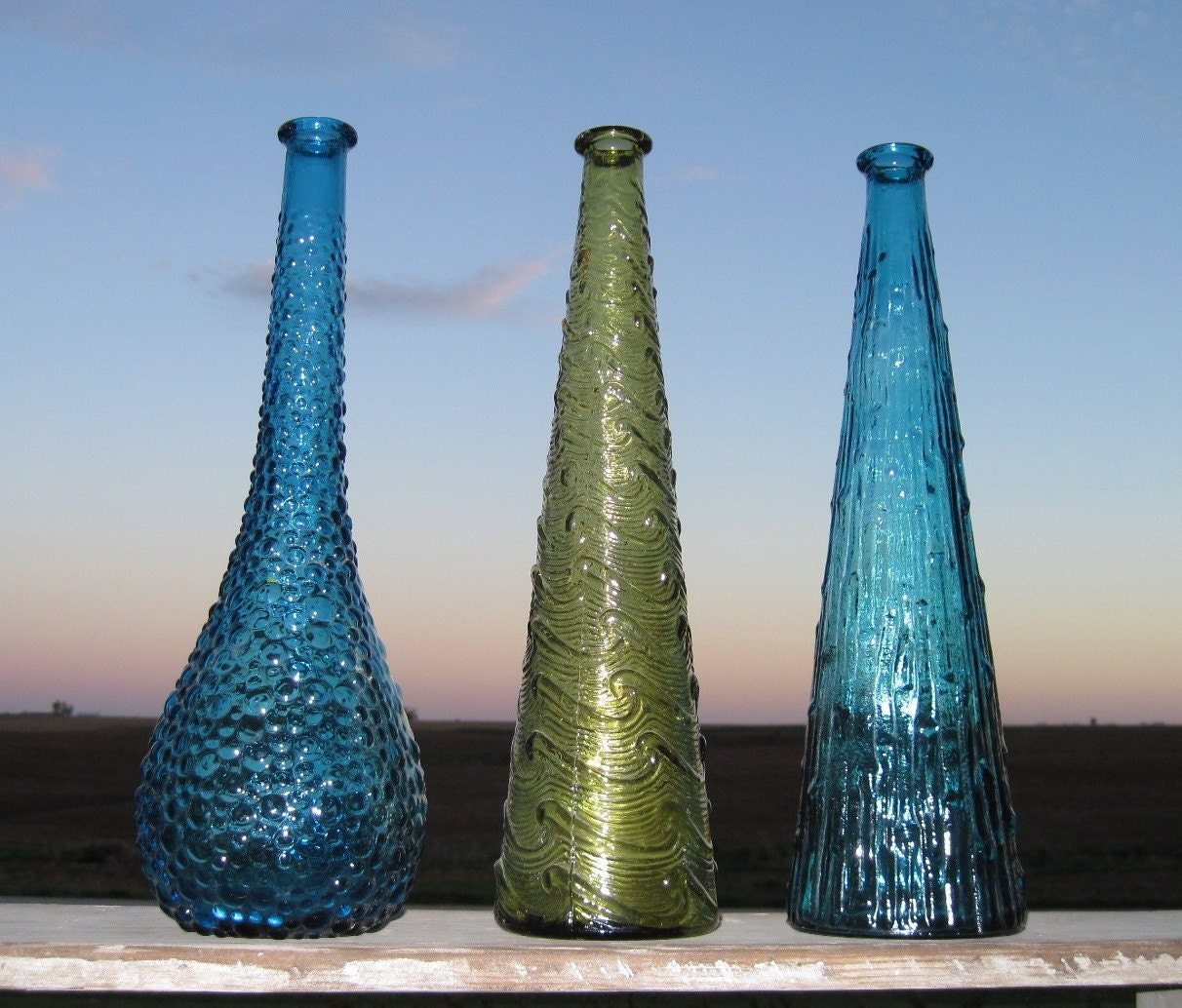 Vintage Glass Vases Instant Collection3 Colored By