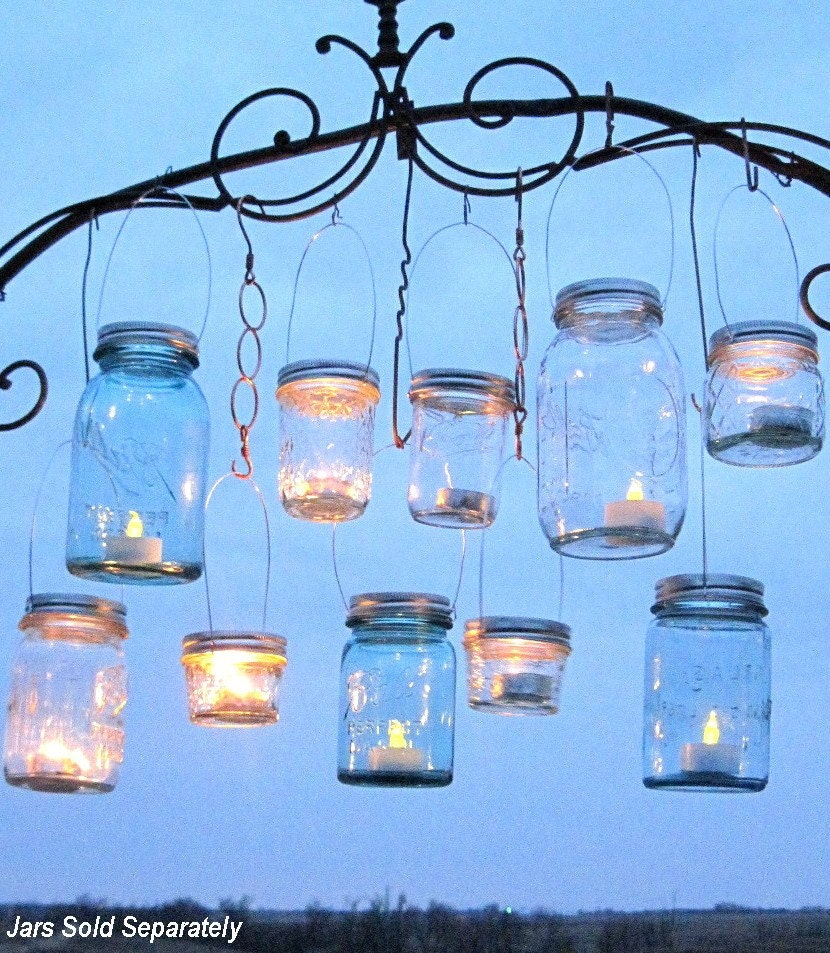 Hanging mason jars lids 14 diy hanging lantern lids reserved for Diy lantern lights