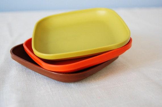 Tupperware Toys Plate Set Miniature Plastic By Ottolinesoddities