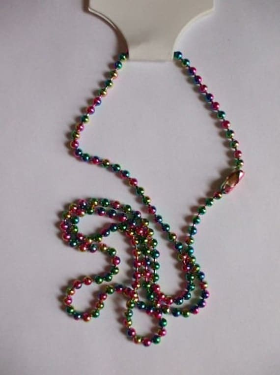 "FIVE 18"" Multi Color Ball Chain Necklaces SUpplies"