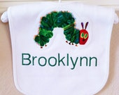 Very Hungry Caterpillar Bib - Monogrammed