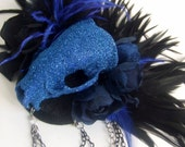 SALE DeathGlam midnight lust real badger skull fascinator - ready to ship