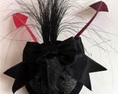 SALE DeathGlam real mink skull black pink and burgandy - ready to ship