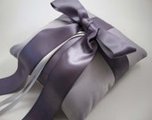 Gabriella Ring Bearer Pillow in Silver Platinum and Lilac - Pick Your Own Colors - BOGO Offer