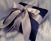 30% Off - Ring Bearer Pillow - Pick Your Own Color - Shown in Navy and Gray