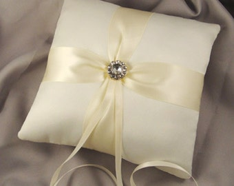 Fifth Avenue Ring Bearer Pillow in Ivory  - Choose Your Own Colors