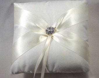 Fifth Avenue Ring Bearer Pillow - Choose Your Colors. Shown in White on White.