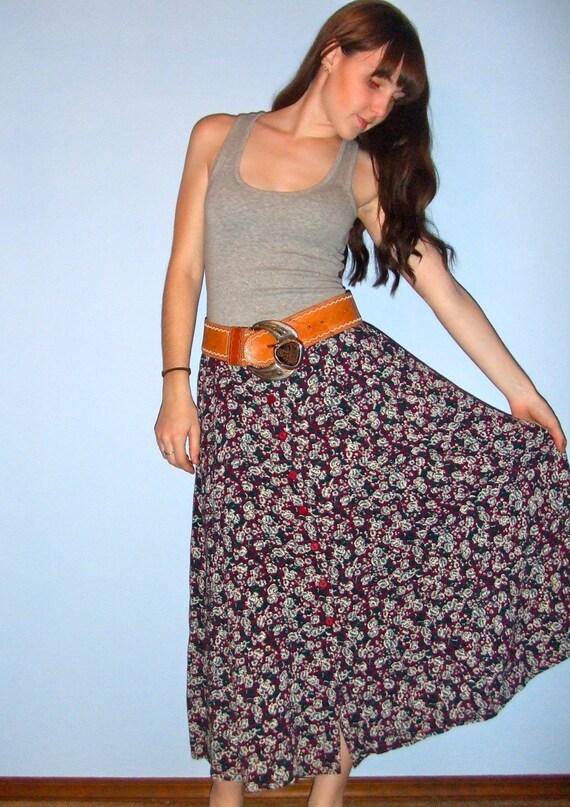 Mini Floral Boho Skirt