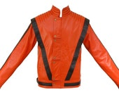 Michael Jackson MJ Thriller Expensive Cow Hide Leather Jacket In All Sizes
