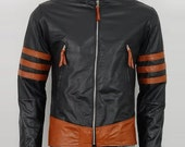 X-MEN Wolverine Origins Biker Style Expensive Black Cow Hide Leather Jacket in All Sizes
