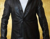 Max Payne Grade A Black Sheep Leather Jacket in all Sizes