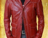 Fight Club Red Original Leather FC Jacket in all Sizes