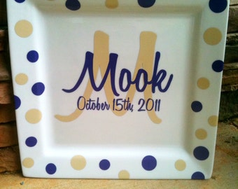 Personalized Decorative Plate/wedding gifts