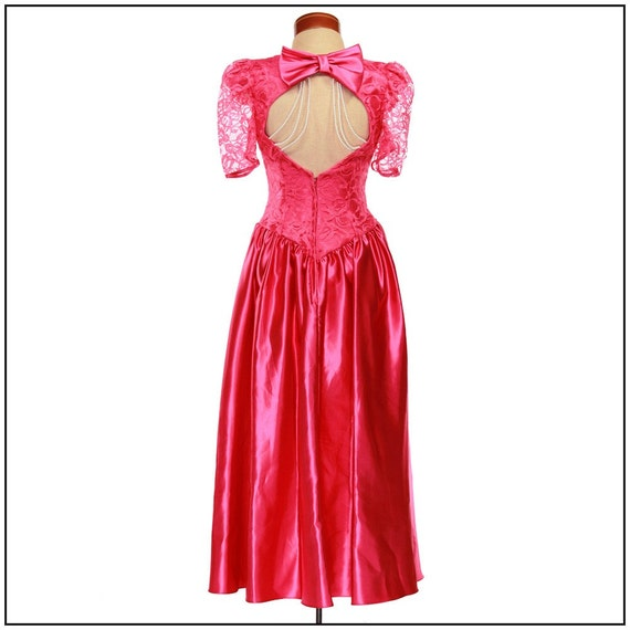 Vintage 80s Prom Dress. Alfred Angelo. HOT HOT Pink. Woah
