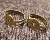 10pcs Adjustable Antique Brass Rings (RR-01-AB)