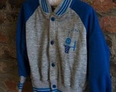 Vintage Boys Sweatshirt Track Jacket with Basketball Logo 4T Carters