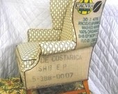 Coffee Sack Wing Back Chair -- Free Shipping