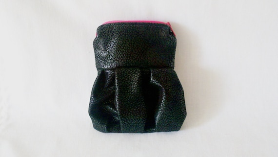 Half off sale // Faux leather coin purse - Great for coins, cosmetics, sewing kit, and more