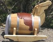 Barrel Rocking Horse