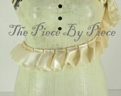 2 Yards Ivory Pleated Satin Trim