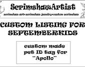 Custom Listing for Septemberkids