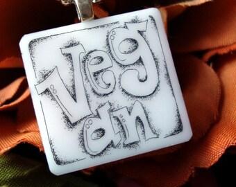 Vegan Scrimshaw Necklace