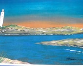Lighthouse Print - Dawns Pointe - Fine Art Limited Edition Print - 11 x 15 Print - Nautical Print - Ocean Beach Print - River Print