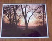 Summer Sunset Photo - Fine Art Photograph - 8 x 10 Photo - Wisconsin Sunset - Fall Sunset Photo - Nature Photograph