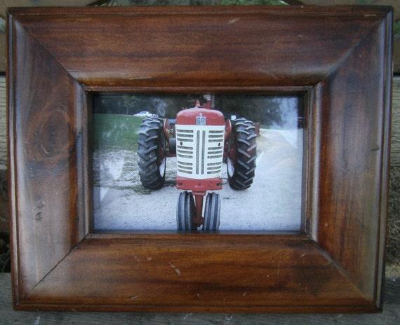 Framed Tractor Photo - Fine Art Photo - Farmall Tractor Photo - 8 x 10 - Red Farm Tractor - Old Farmall Photo - Wooden Framed Photograph